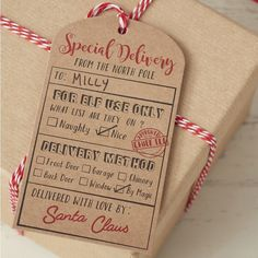 The kids will love these 'From Santa' Gift Tags! Such a brilliant alternative to the usual gift tag - Vintage Noel at GingerRay.co.uk