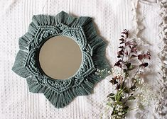 malystrom / Makramé zrkadlo Crochet Necklace, Boho, Mirror, Home Decor, Decoration Home, Room Decor, Mirrors, Bohemian, Home Interior Design