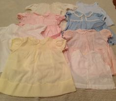 Vintage Baby - Infant Dresses Philippines 1940's-1960's? - LOT 8 pc - FREE SHIP!