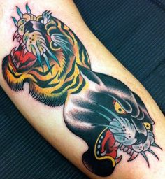 100 Angry Panther Tattoo Designs For Men and Women - All Teens Talk Head Tattoos, Body Art Tattoos, Sleeve Tattoos, Traditional Ink, Neo Traditional Tattoo, American Traditional, Old School Tattoo Designs, Tattoo Designs Men, Nautical Drawing