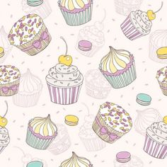 Cartoon dessert background 02 vector Vector background - Free vector for free download