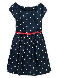 Dot belted dress- Gap fall 2013
