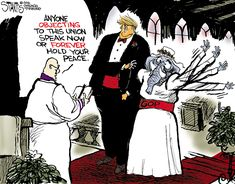 Editorial cartoon on Donald Trump and Republican Party and 2016 presidential election