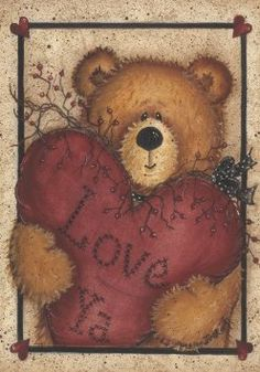 Amazon.com: Valentine Cuddly Teddy Bear Love Ya Garden Flag: Patio, Lawn & Garden