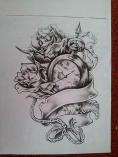 rose and watch tattoo designs - Google Search