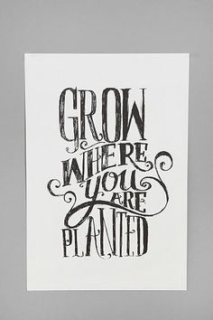 Matthew Taylor Wilson Grow Where You Are Planted Art Print - Urban Outfitters