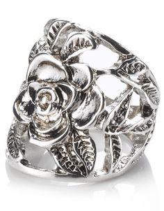Flower Filigree Ring
