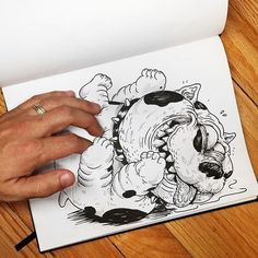 Artist Alex Solis' Collection Inkteraction Gives The Regular Show Some Serious Competition -  #art #Inkteraction #sketch