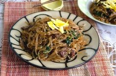 Корейская лапша с мясом