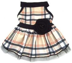 TAN PLAID DOG DRESS, #Dog #Dress - Moondoggie - $36.95