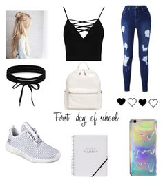 """""""Untitled #148"""" by gstyvers ❤ liked on Polyvore featuring BP., Boohoo and Skechers"""
