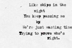 mat kearney ships in the night - Google Search