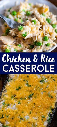 White Rice Recipes, Easy Rice Recipes, Easy Casserole Recipes, Easy Chicken Recipes, Easy Dinner Recipes, Kraft Recipes, Dinner Ideas, Easy Chicken And Rice, Cheesy Chicken