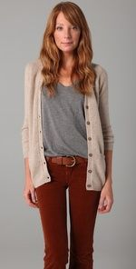 Chinti and Parker - Elbow Patch Long Cashmere Cardigan $231.00