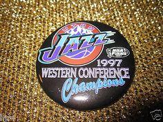 Utah Jazz 1997 Western Champs NBA Finals Button