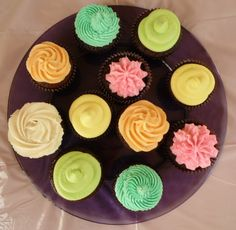 Chocolate Cupcakes with Pastel Icing by BabyCakes Bakery:: www.babycakesbakery.co.za Pastel Cupcakes, Rainbow Pastel, Chocolate Cupcakes, Icing, Bakery, Desserts, Food, Tailgate Desserts, Deserts