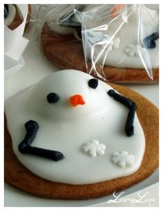 Melted Snowmen Cookies - LeivinLiina - Vuodatus.net
