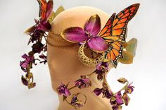 Monarch Butterfly Headdress $125 little wing faerie art