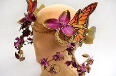 Monarch Butterfly Headdress $125 little wing faerie art