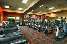 Viva Fitness Center is a state-of-the-art open fitness room with workout equipment, resistance machines and free weights.