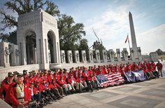 Monday Motivation 10/22: The Honor Flight Network provides a way of paying a small tribute to those who gave so much -- our WWII vets. Honor Flights transport vets of WWII to Washington to visit and reflect at their memorials, absolutely free of charge.  It's an amazing organization that provides an invaluable service to the men and women who protected this country's freedoms not so long ago.