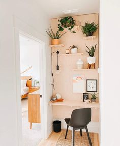 Home Office Space, Home Office Design, Home Office Decor, Home Interior Design, Interior Colors, Room Ideas Bedroom, Bedroom Decor, Wall Decor, Aesthetic Room Decor