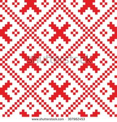 There are a lot of ornaments pattern for knitting and crocheting