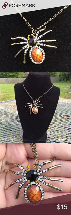 "Spider Sweater Necklace.  *2 For $20! 28"" long bronze chain. No clasp. Fashion spider necklace. NWT.   None Jewelry Necklaces"