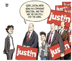 Toronto Star editorial cartoon in November 2012 by Theo Moudakis. #politics #news #Bieber #Trudeau
