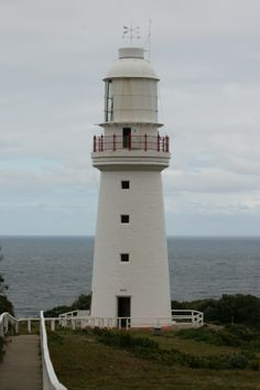 Cape Otway Lighthouse, Great Ocean Road, Victoria - built in the 1840s of local stone, it was the second lighthouse to be built on the mainland coast; height 20 metres