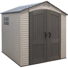 Backyard storage shed lifetime 7 ft x 7 ft outdoor storage the home depot Backyard Storage Sheds, Garden Storage Shed, Storage Shed Plans, Garden Sheds, Garden Tools, Storage Ideas, Plastic Storage Sheds, Plastic Sheds, Small Storage