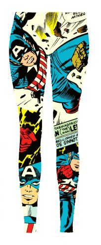 Captain America Comic Book Super Hero Leggings $25