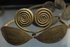 Prehistoric. Art. Bronze Age. Belt ornaments. From a bog at Fjellerup, Funen. 700–500 BC. National Museum of Denmark.