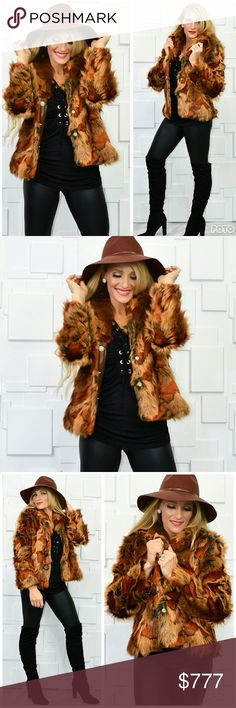 GORGEOUS FAUX FUR COAT Brand new Boutique item Price is firm Bundle to save   Goregous multi color FAUX FUR coat. Button up front, pockets, fully lined. Perfect for your fall/winter wardrobe!! Warm and cozy True to size    *Popular, high end, winter, fall, autumn, faux fur, MODA Jackets & Coats