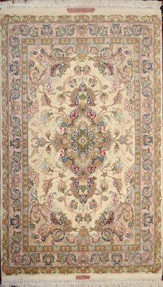 Novinfar Tabriz  Silk Persian Rug - Item# PA-10 Size: 100 x 150 (cm)      3' 3 x 4' 11 (ft)