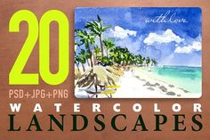 20 artistic landscapes vol.2 by katflare | store on @creativemarket