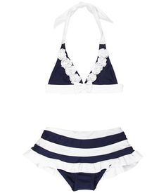 Seafolly Kids Yacht Club '70s Halter Skirtini (Infant/Toddler/Little Kids) Navy - Zappos.com Free Shipping BOTH Ways