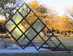 glass and steel sculpture