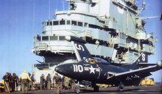 Grumman F9F Panther, 1951, on USS Essex
