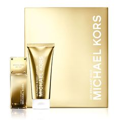 """""""When a woman wants complete glamour, she goes for yellow gold,"""" says Michael. Introducing 24K Brilliant Gold, one of the new scents from the Gold Fragrance Collection. Feminine and seductive, our 24K Brilliant Gold gift set features the perfect body lotion, lip gloss and nail polish to match."""