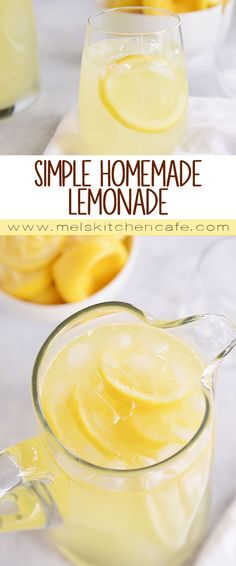 The easiest and best homemade lemonade ever…and it doesn't require cooking a simple syrup. It is quick, delicious, and perfect! The easiest and best homemade lemonade ever…and it doesn't require cooking a simple syrup. It is quick, delicious, and perfect! Homeade Lemonade, Good Lemonade Recipe, How To Make Lemonade, Honey Lemonade, Homemade Lemonade Recipes, Lemonade Drink, Lemonade Recipe Without Simple Syrup, Lemon Limeade Recipe, Arroz Con Pollo
