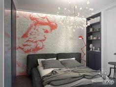Трёхкомнатная квартира «Follow your dream». Спальня: интерьер, зd визуализация, квартира, дом, спальня, эклектика, 10 - 20 м2, интерьер #interiordesign #3dvisualization #apartment #house #bedroom #dormitory #bedchamber #dorm #roost #eclectic #10_20m2 #interior arXip.com