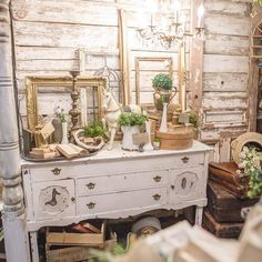 Karen Valentine, Vintage Buffet, Booth Decor, Am In Love, Dresser, Display, Make It Yourself, Antiques, How To Make