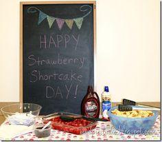 Teacher Appreciation Week - Strawberry Shortcake Buffet - mudpiestudio@blogspot.com