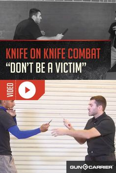 VIDEO: How To Fight With a Knife Want to learn how to fight with a knife? Join Gun Carrier and Martial Arts Master Jeremy Pollack in our video series on handgun safety, knife fighting & more! Survival Knife, Survival Prepping, Survival Skills, Survival Gear, Wilderness Survival, Disaster Preparedness, Knife Fighting Techniques, Self Defense Techniques, Fight Techniques