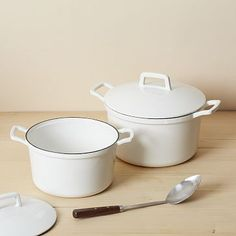Enamel Cast Iron Dutch Ovens #WestElm  OMG I want one of these SOOOOO badly!!!  They look SO much like what my grandmother would have used... and these will last a lifetime I'm sure.