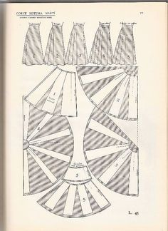 patron falda de vuelo natural   Aprender manualidades es facilisimo.com Pleated Skirt Pattern, Circle Skirt Pattern, Vintage Patterns, Sewing Patterns, Bandhani Dress, Sewing Pants, Couture Sewing, How To Make Clothes, Pattern Drafting