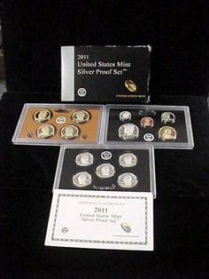 2011 United States Mint Silver Proof Set 14 Coin Set in Original Box w COA   eBay