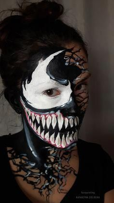 9 Best Venom Face Paint Reference images | Costumes ...