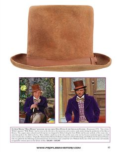 Gene Wilder Willy Wonka Hat - Image - Dreier Collection - ProfilesInHistory.com